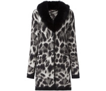 fox fur collar animalier coat