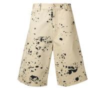 Shorts mit Farbspritzer-Print