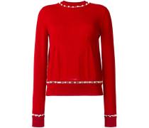 Pullover mit Kunstperlen
