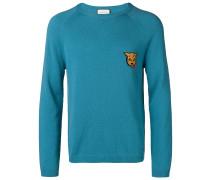 Intarsien-Pullover mit Patch