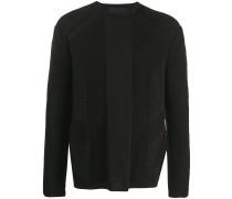 Pullover mit gerippten Einsätzen