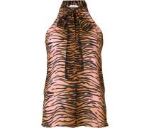 tiger print sleeveless blouse
