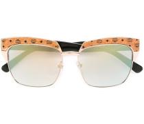Rechteckige Sonnenbrille mit Logo