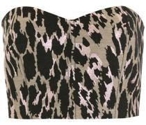 Cropped-Top mit Leoparden-Print