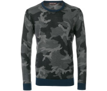 camouflage print jumper