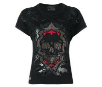 embellished skull T-shirt - women