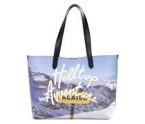 Shopper mit 'Berglandschaft'-Print
