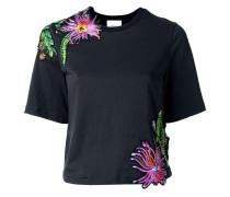T-Shirt mit Blumenstickereien
