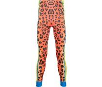 Leopard Fahrrad-Leggings