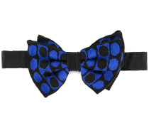 embroidered bow-tie