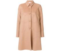 Rockstud single breasted coat