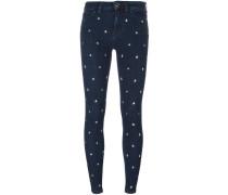 Skinny-Jeans mit sternförmigen Nieten