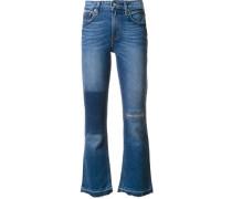 'Gia' Cropped-Jeans mit ausgestelltem Bein
