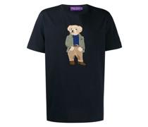 T-Shirt mit Teddy-Stickerei