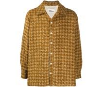 Tweed-Hemdjacke mit Fischgrätenmuster