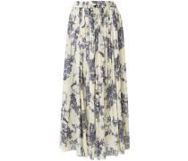 pleated floral print skirt