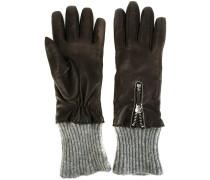 Handschuhe mit geripptem Saum