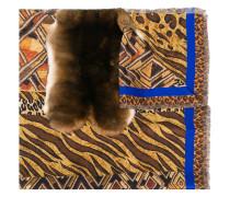 rabbit fur trim scarf