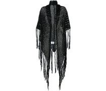 fishnet fringed shawl