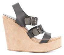 Wedge-Sandalen mit Schnallen - women - Leder