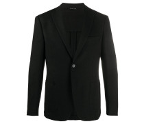 textured single-breasted blazer
