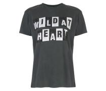 "T-Shirt mit ""Wild at Heart""-Print"