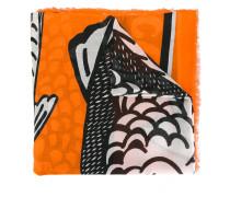 Tuch mit Fische-Print