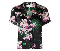 Pyjama-Oberteil mit Blumen-Print