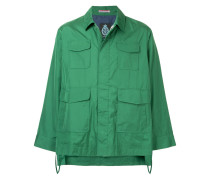 flared sleeve cropped jacket