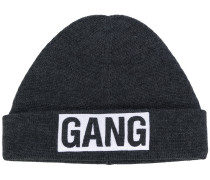 Gang embroidered beanie hat