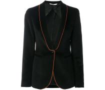 slim-fit striped blazer