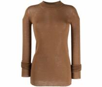 ribbed-collar wool sweater