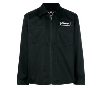 logo embroidered zip up jacket
