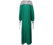 lattice embroidered shift dress