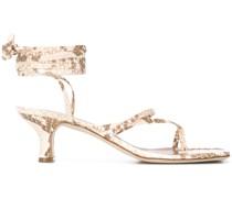 Sandalen mit Schlangenleder-Optik, 45mm