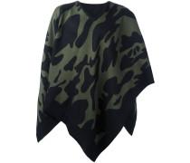 Cape-Schal mit Camouflage-Print