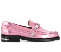 Metallic-Loafer mit Nieten