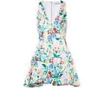 Florales Kleid mit drapiertem Design - women