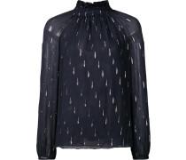 Semi-transparente Bluse mit Stehkragen