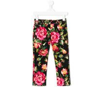floral print jeans