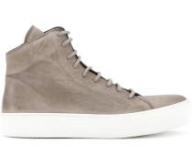 High-Top-Sneakers mit Konstrastsohle