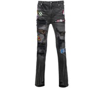 'Pistol' Jeans mit Patches