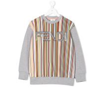 striped logo sweatshirt