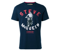 - 'Steve McQueen' T-Shirt mit Motorrad-Print