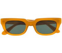 Eckige Brille mit Logo