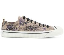 Doodle Print Cotton Gabardine sneakers