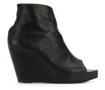 ruched peep toe booties