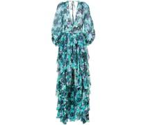 Langes Kleid mit asymmetrischem Saum
