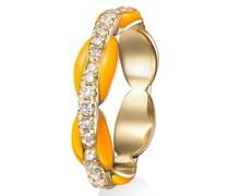 18kt Gelbgold-Pinky-Ring mit Diamanten