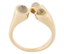 'Aorta' Ring mit Quarzverzierungen
